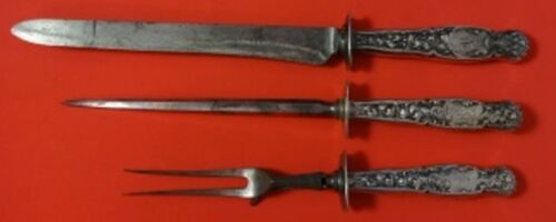 Heraldic by Whiting Sterling Silver Roast Carving Set 3pc HHWS