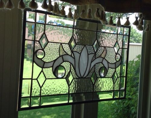 SUNCATCHER - VICTORIAN STAINED GLASS PANEL 14 X 21 1/2 Inches