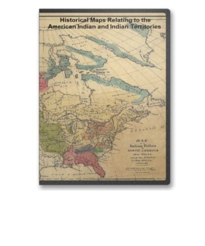 76 Rare Maps of Native American Indian United States Territories CD - B29