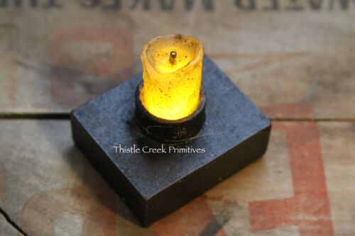 """2.5"""" Nook Candle with Timer - Burnt Ivory with black resin base"""