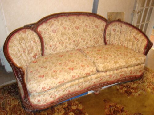 Antique Couch & Matching Chair - Beautiful - TAKE A LOOK!!!!!