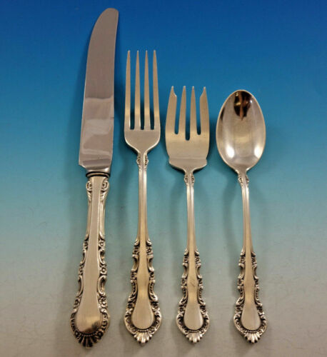 Georgian Rose By Reed and Barton Sterling Silver Dinner Place Setting(s) 4pc