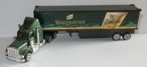 GRELL HO 1/87 CAMION TRUCK KENWORTH W900 TRAILER WERNESGRÜNER GERMAN BEER