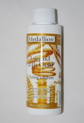 Deluxe Liquid Gold Solution 24 Kt. 4 Oz. By Medallion Brand  - NEW