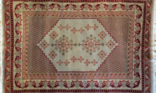 Marvelous Moroccan - 1940s Antique Tribal Rug - Traditional Carpet 5.7 x 7.8 ft.