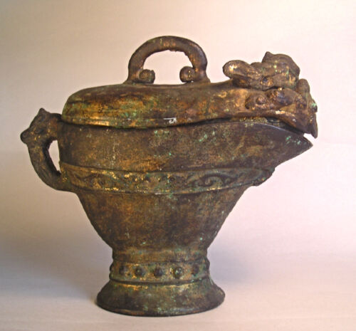 An Antique Chinese Gilt Iron Dragon Incense Burner T34