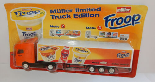 GRELL HO 1/87 CAMION REMORQUE TRUCK TRAILER MB ACTROS MÜLLER FROOP YAOURTS LAIT
