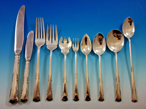 Greenbrier by Gorham Sterling Silver Flatware Set for 12 Service 120 pieces