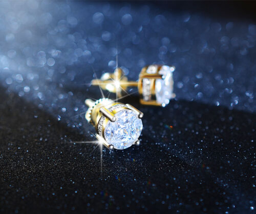 MENS-HOT-ICED-OUT-AAA-LAB-DIAMOND-18K-GOLDFINISH-STUD-HIP-HOP-EARRING-8MM
