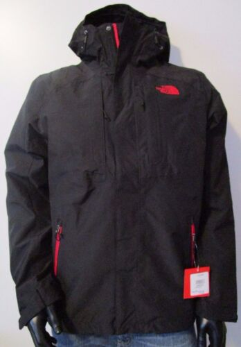 NWT Mens TNF The North Face Cinder Tri 3 in 1 Hooded Waterproof Jacket - Black