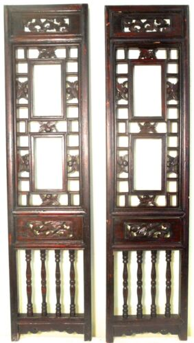 Antique Chinese Screen Panels (2505) (Pair) Cunninghamia wood