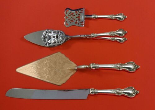 Delacourt by Lunt Sterling Silver Dessert Serving Set 4pc Custom Made