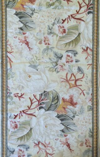 Amazing Aubusson - Vintage French Design - Floral Needlepoint Runner - 3 x 12