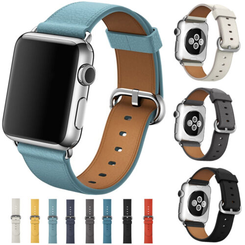 Luxury Leather Watch Strap Bracelet Wrist Band For Apple Watch Series 3/2/1 New