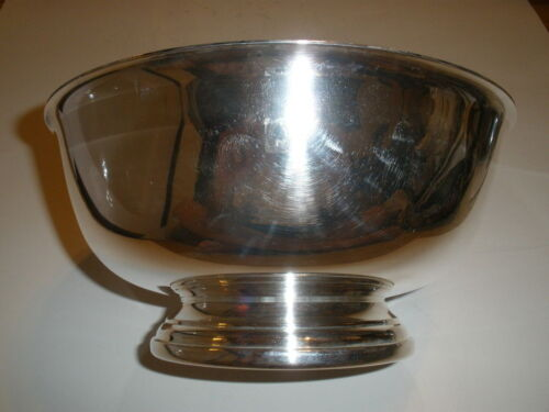 """Gorham 9"""" Silverplated Paul Revere Footed Bowl EP YC781"""
