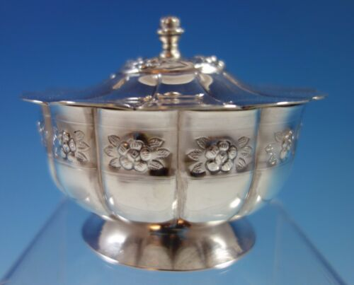 Aztec Rose by Sanborns Mexican Mexico Sterling Silver Candy Dish (#1826)