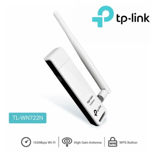 Wireless USB Adapter TP-Link 150 Mbps Speed Computer PC WiFi Dongle TL-WN722N
