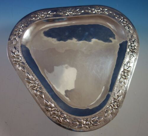 Aztec Rose by Maciel Mexican Mexico Sterling Silver Serving Tray (#1858)