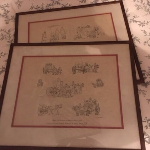 William Henry Pynes - set of two - framed - from The Stonybrook Collection