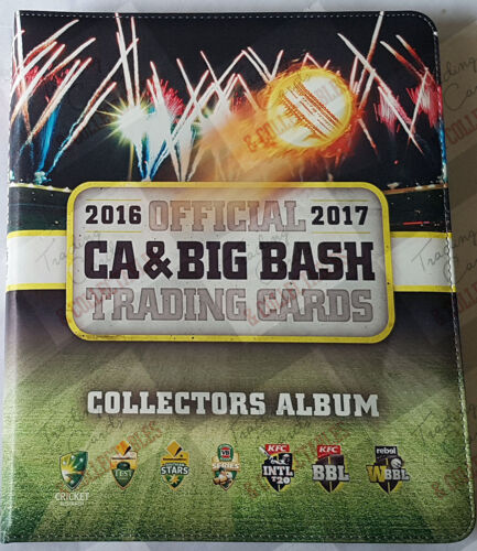 2016-17 tap n play cricket trading cards BBL base set + folder + album cardCricket Cards - 25579