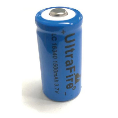 Ultrafire Size 16340 0.5A 1500mAh 3.7V Rechargeable Lithium Battery