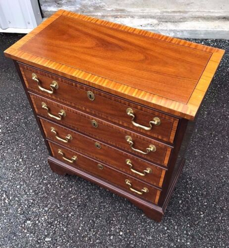 Councill Furniture Mahogany Banded Fancy Petite Chest, Server, Silver Chest