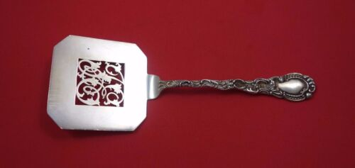 Louis XV by Durgin Sterling Silver Waffle Server Pierced with Monogram 7 3/4""