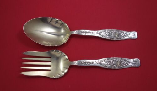 """Dandelion by Whiting Sterling Silver Salad Serving Set 2pc GW AS Fluted 9 3/4"""""""