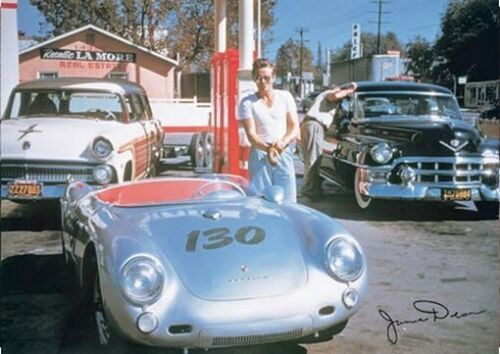 JAMES DEAN PORSCHE SIGNED POSTER - RARE NEW 24X36 PRINT - PRINT IMAGE PHOTO -YW0