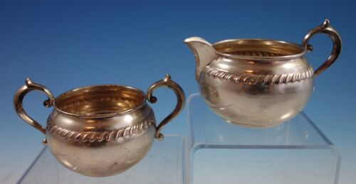 English Gadroon by Gorham Sterling Silver Sugar and Creamer Set 2pc (#2032)