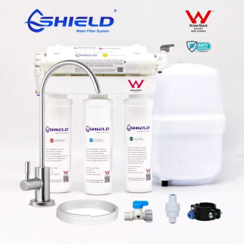 6 Stages Undersink Alkaline Reverse Osmosis Water Filter System 150G RO Membrane <br/> Remove Fluoride Chemical Heavy Metal Bacteria Viruses