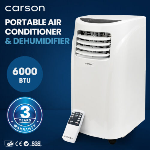 CARSON 4in1 Portable Air Conditioner 14000BTU Mobile Fan Cooler Dehumidifier <br/> 20% OFF. Must use Checkout Code PAPA20. Ends 30/8. TCs.