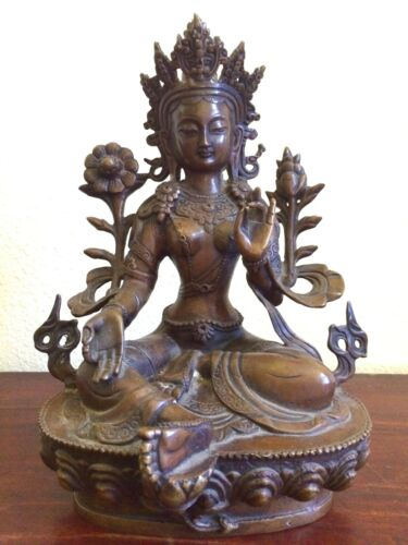 Vintage Bronze Buddha Statue, (8020), Originally Collected from Burma