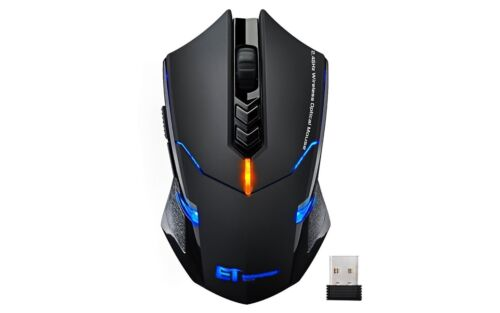 VicTsing Wireless Gaming Mouse - Silent Click 7 Buttons Adjustable 2400 DPI 2.4G