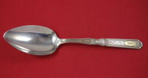 Saint Dunstan Chased Gold by Gorham Sterling Silver Serving Spoon 8 1/2""