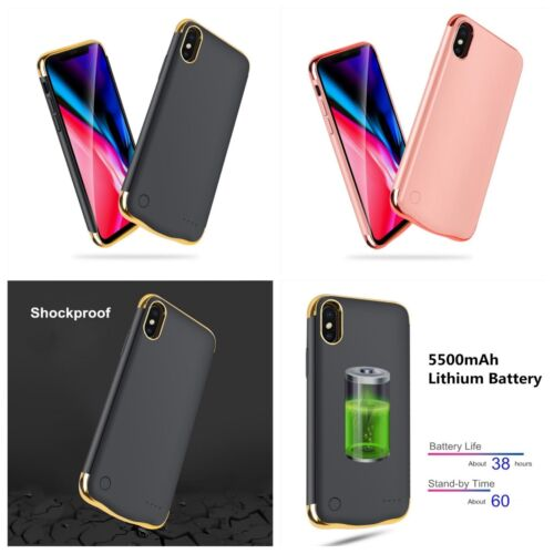 iPhone X 10  Extended Power Charger Battery Backup Case/Cover 5500mAh