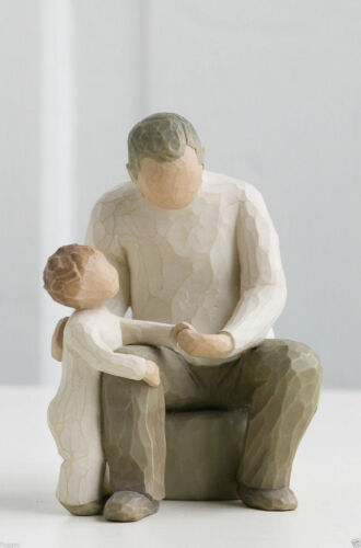 Willow Tree Figurine Grandfather and Grandchild By Susan Lordi  26058
