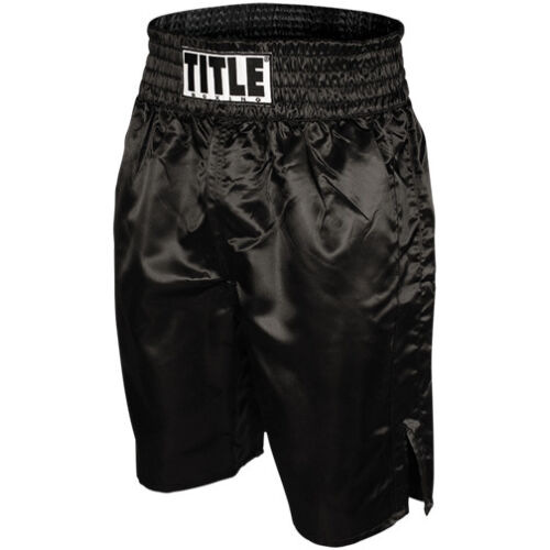 Title Professional Boxing Trunks - Black <br/> Exclusive Seller of TITLE Boxing on eBay
