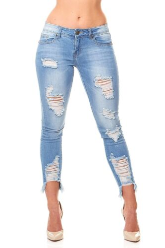 VIP Jeans Ripped Distressed Skinny jeans for women Junior / Plus size 5 Colors