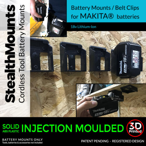 5x Genuine StealthMounts STEALTH BATTERY MOUNTS for Makita 18v Lithium-ion BL