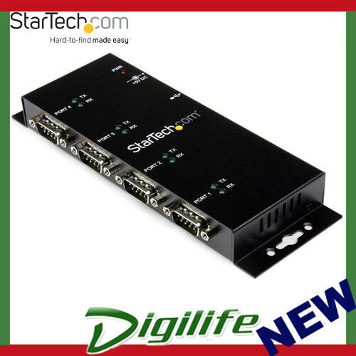 StarTech 4 Port USB to DB9 RS232 Serial Adapter Hub – ICUSB2324I