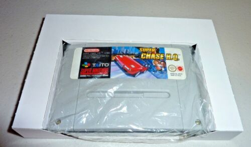 2 x super nintendo snes game cardboard box insert inlay tray reproduction