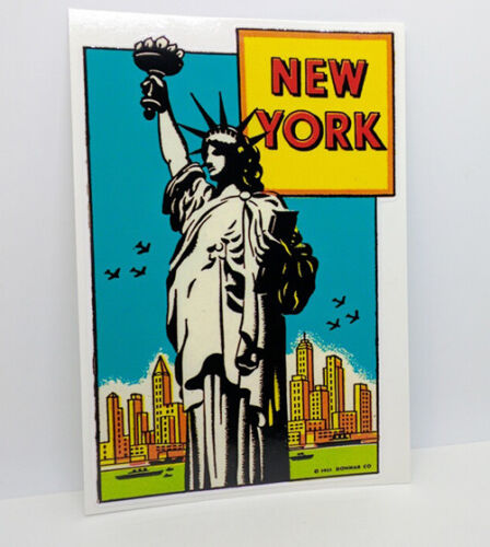 New York City Vintage Style Travel Decal, Vinyl Sticker, Luggage Label