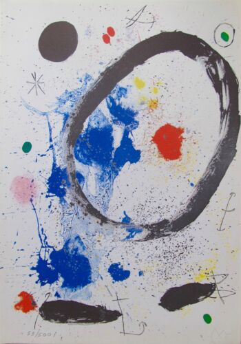Joan Miro TWILIGHT'S RING Facsimile Signed Limited Edition Lithograph Art