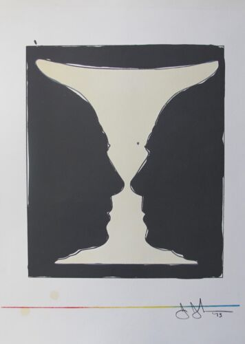 """Jasper Johns """"CUP TWO PICASSO"""" 1973 Plate Signed Lithograph Art XXe Siecle Paris"""