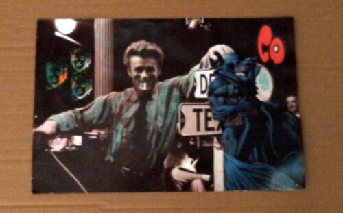 ANTONIO VITALE MIXED MEDIA POSTER VINTAGE STILE DADAISTA JAMES DEAN LOWBROW