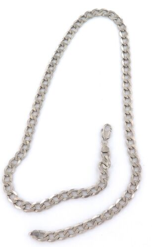 .c1960s ITALIAN LARGE LINK / VERY LONG BLING STERLING SILVER NECKLACE. 62CMS