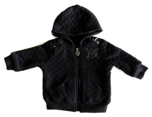 New Amy Coe 4 Toddler Skulls Hooded Jacket Boys Black Quilted