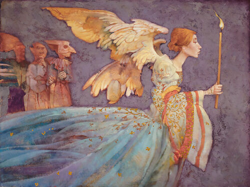 Angel James Christensen Limited Edition Canvas Signed And Numbered