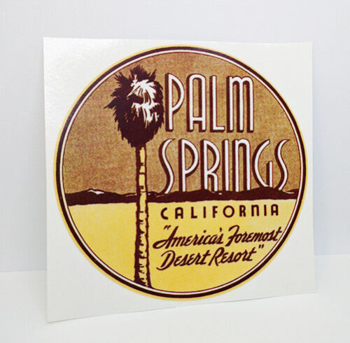 Palm Springs, California 1950's Vintage Style Travel Decal / Vinyl Sticker
